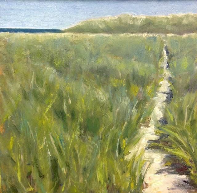"""A New Path, 6x6 Inch Oil Painting by Kelley MacDonald"" original fine art by Kelley MacDonald"