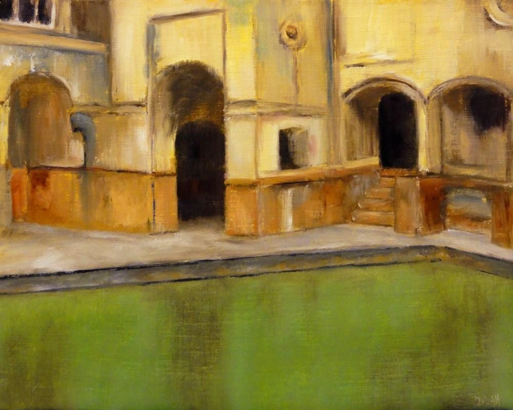 """The Roman Baths"" original fine art by Dalan Wells"
