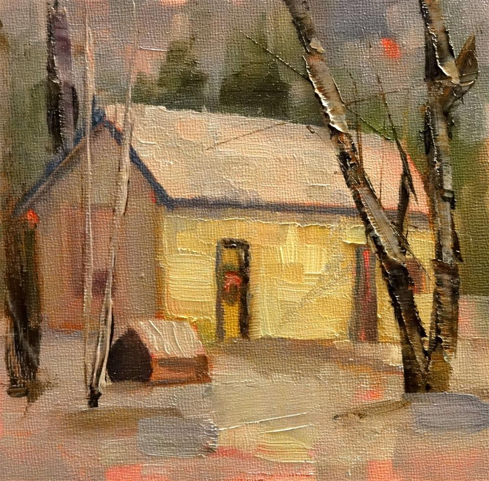 """Your Place Or Mine?"" original fine art by Ann Feldman"