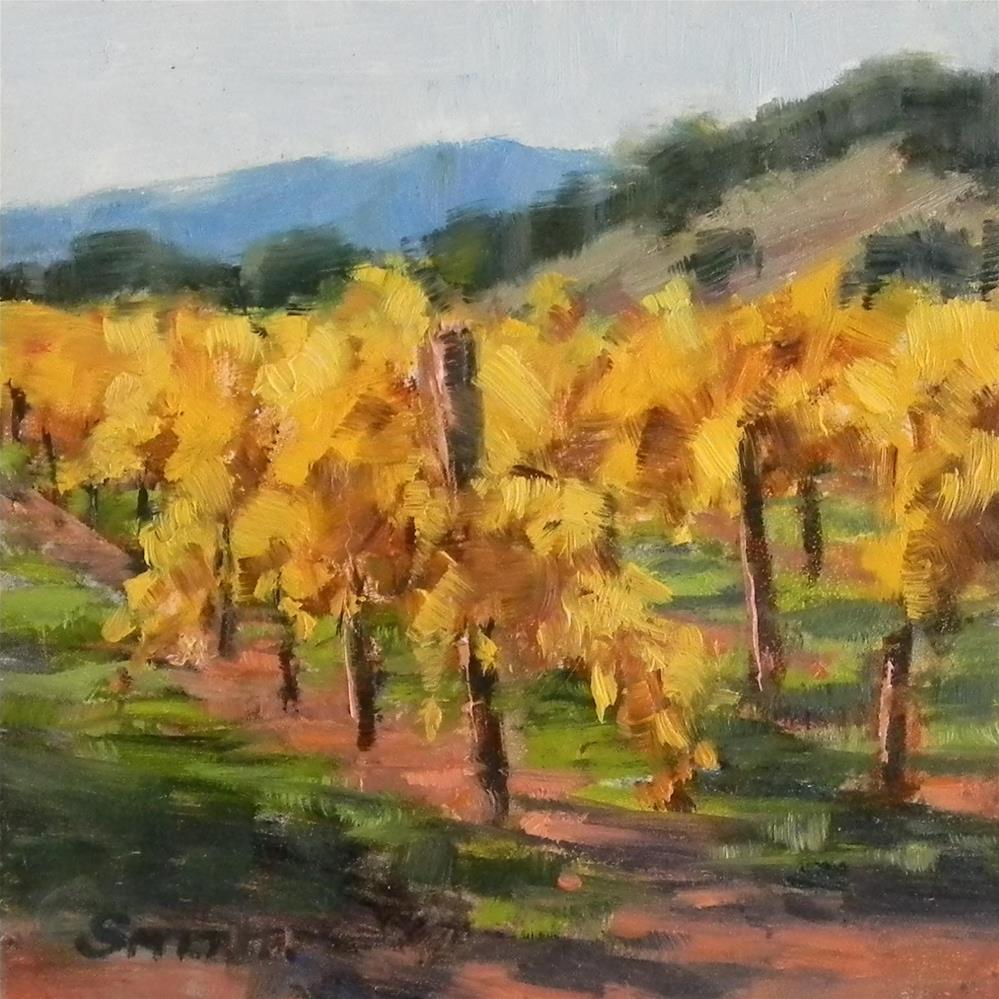 """Golden Vines"" original fine art by Barbie Smith"
