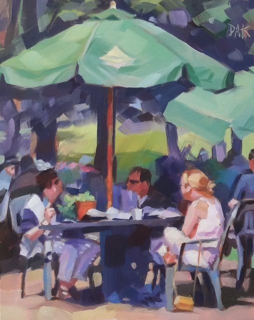 """""""Summer Lunch"""" original fine art by Deborah Ann Kirkeeide"""