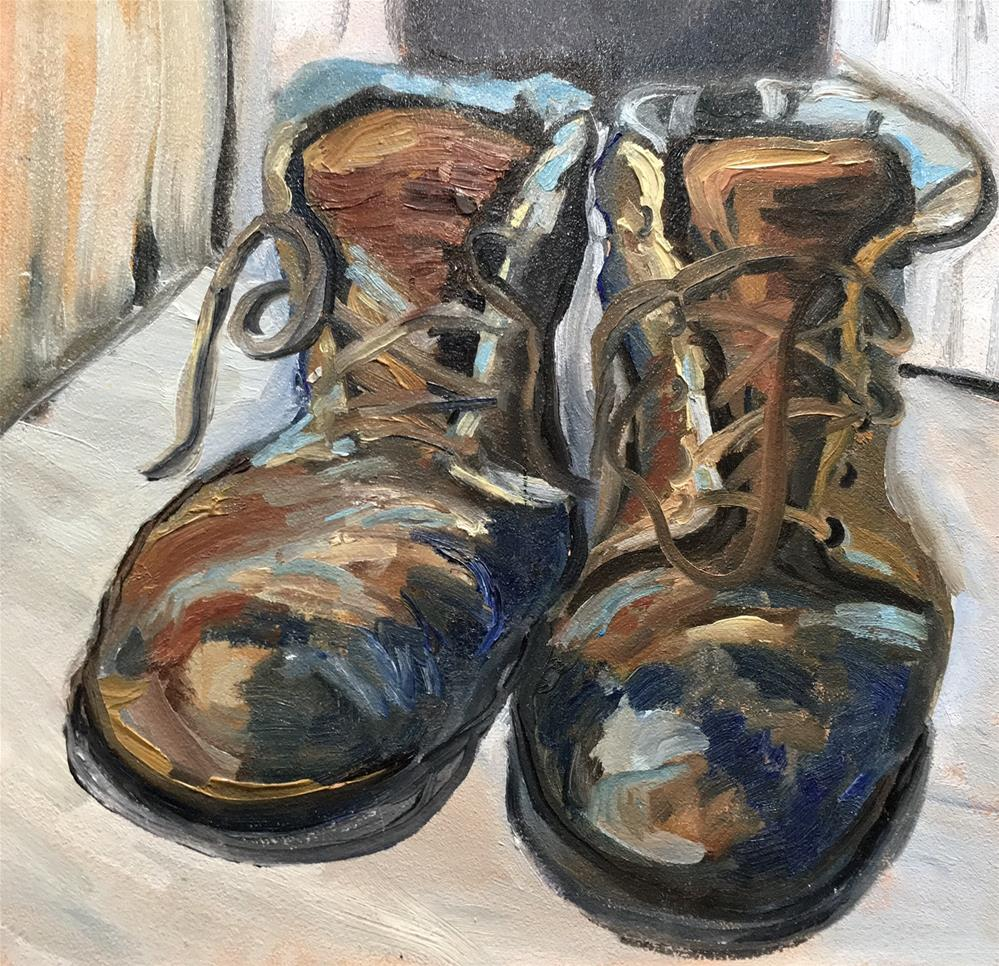 """""""Colorful Boots"""" original fine art by Judith Anderson"""