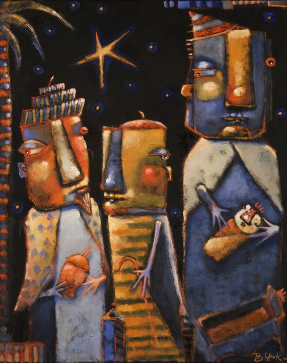 """Three Wise Guys #2"" original fine art by Brenda York"