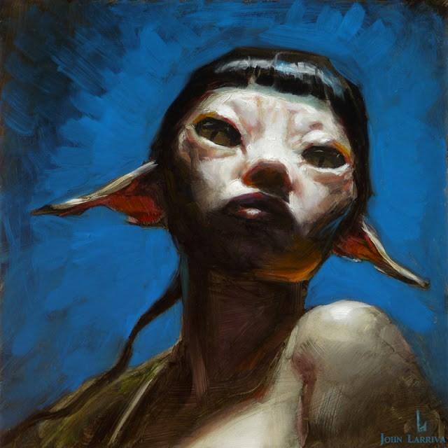 """Sphinx"" original fine art by John Larriva"