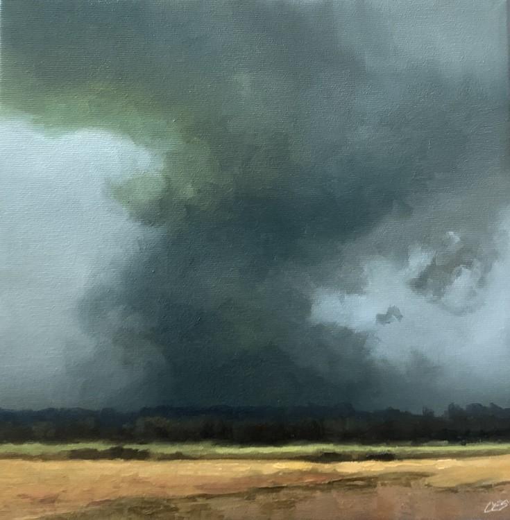 """Leaving Fairview Dam"" original fine art by Christine E. S. Code"