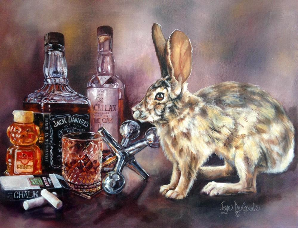"""Hop Scotchin', Honey Bunny of a Jack Rabbit by Joye DeGoede"" original fine art by Joye DeGoede"