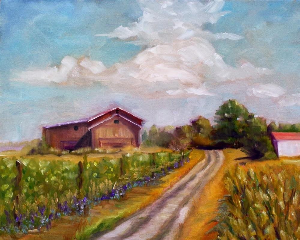 """""""Old South Hill Road"""" original fine art by Maggie Flatley"""