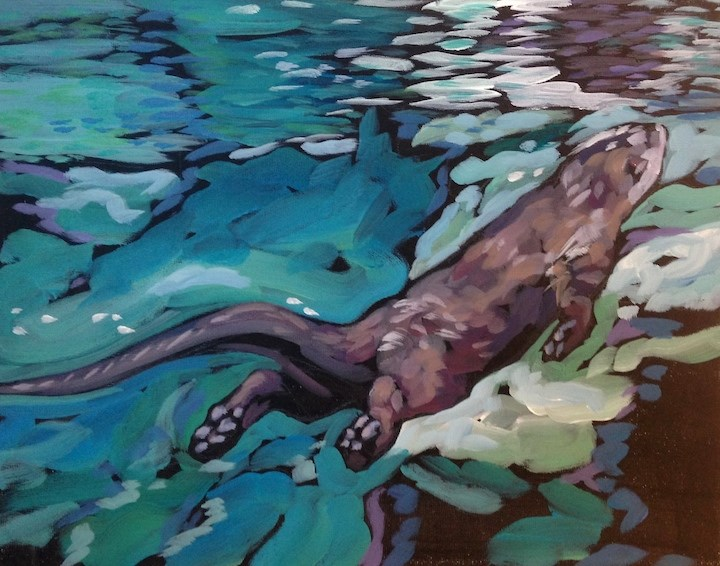 """Approaching the Divide"" original fine art by Kat Corrigan"