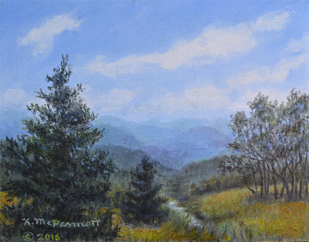 """Blue Ridge Stream (C) 2016 by K. McDermott"" original fine art by Kathleen McDermott"