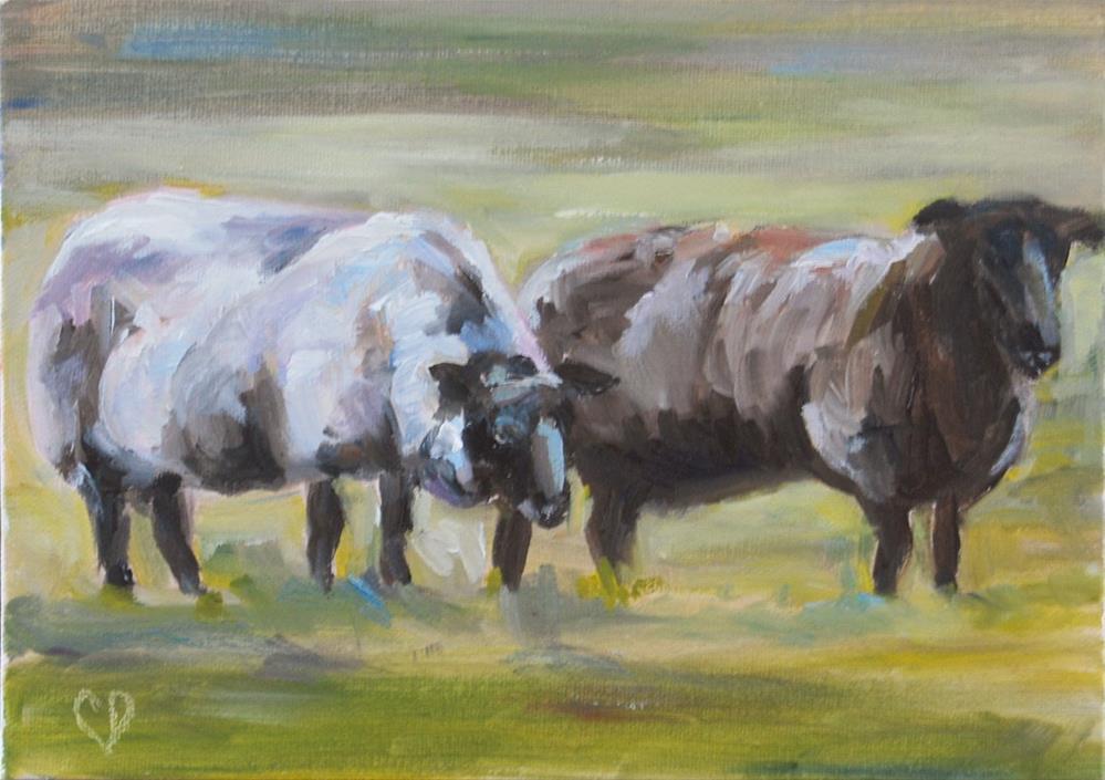 """I love Ewe!"" original fine art by Carol DeMumbrum"