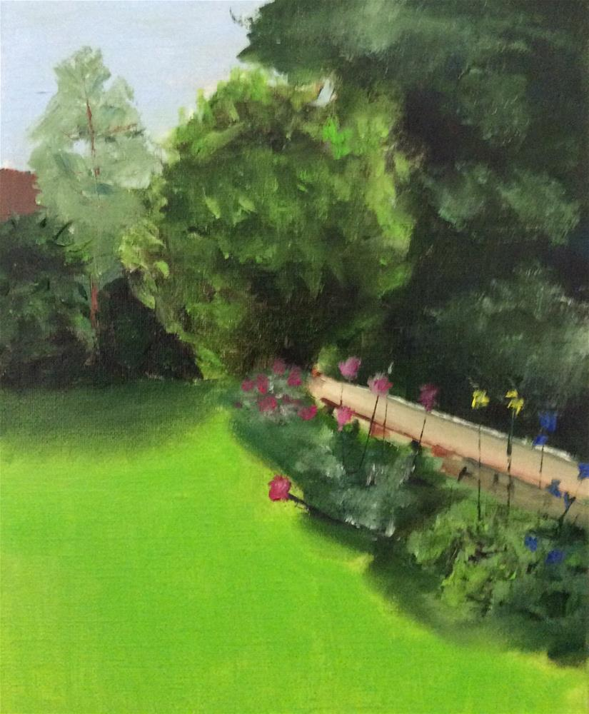 """Tuscan Garden"" original fine art by Patty Barnes"