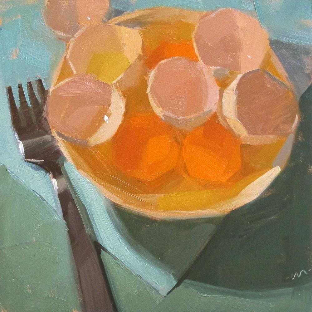 """Eggalicious"" original fine art by Carol Marine"