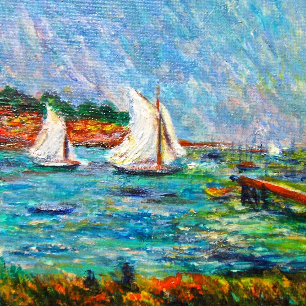 """3277 - Sailing - Mini Master Series"" original fine art by Sea Dean"