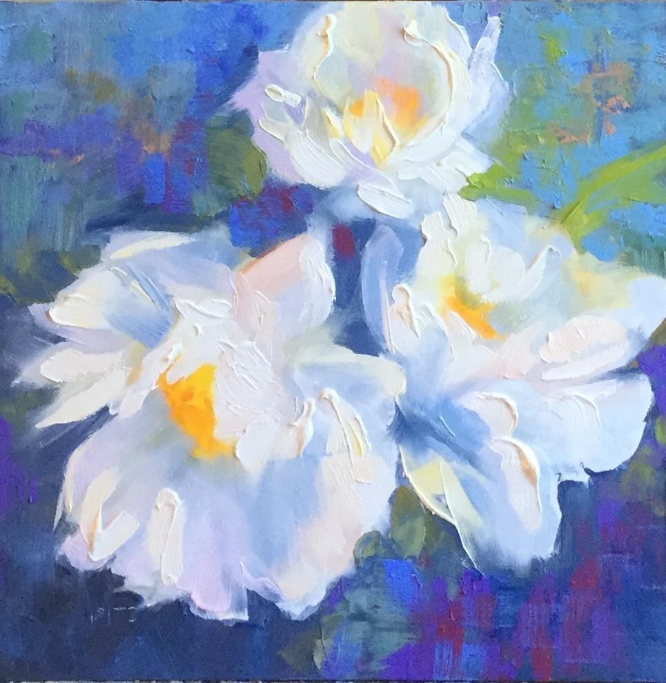 """Duchess Peony 1"" original fine art by Charlotte Fitzgerald"