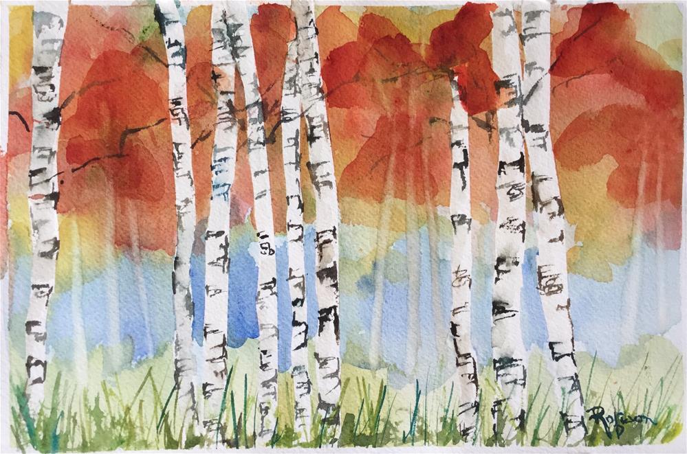 """Aspens in Fall"" original fine art by Renee Robison"
