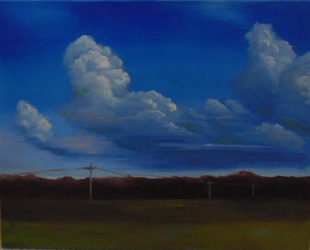 """Rolling Storm"" original fine art by Catherine Kauffman"