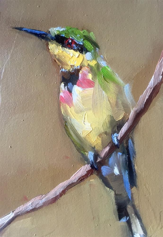 """Bee-eater"" original fine art by Gary Bruton"