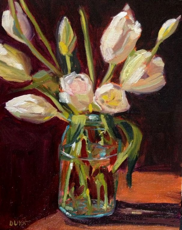 """Tulips 2"" original fine art by Kristen Dukat"
