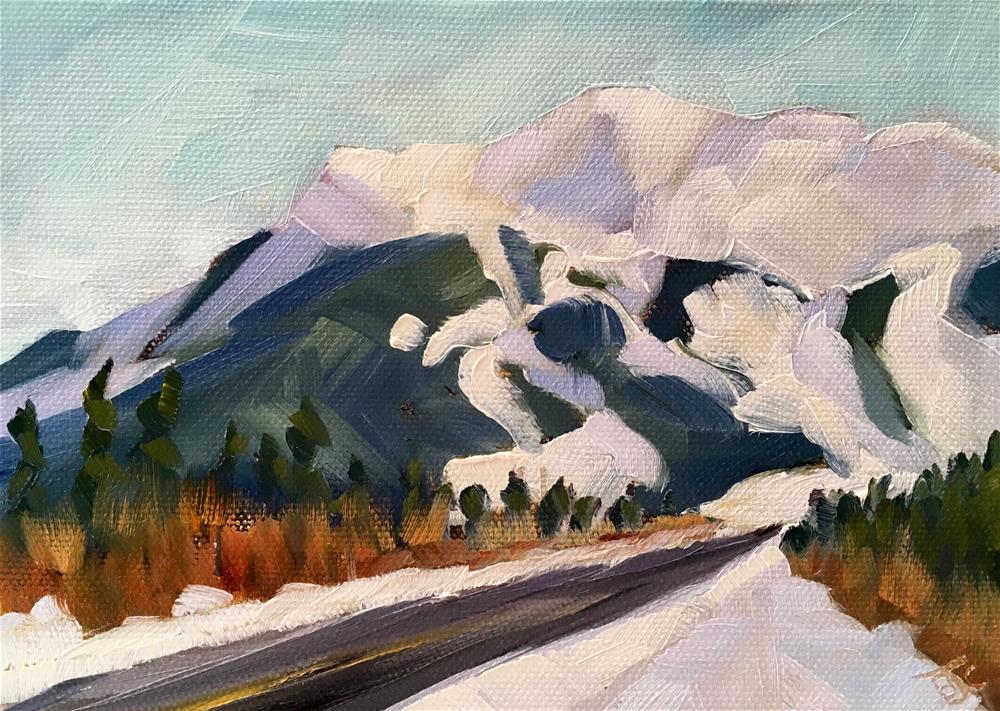 """Mount Alyeska"" original fine art by Bobbie Cook"