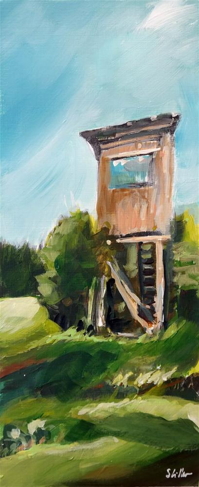 """2197 Raised Hide"" original fine art by Dietmar Stiller"