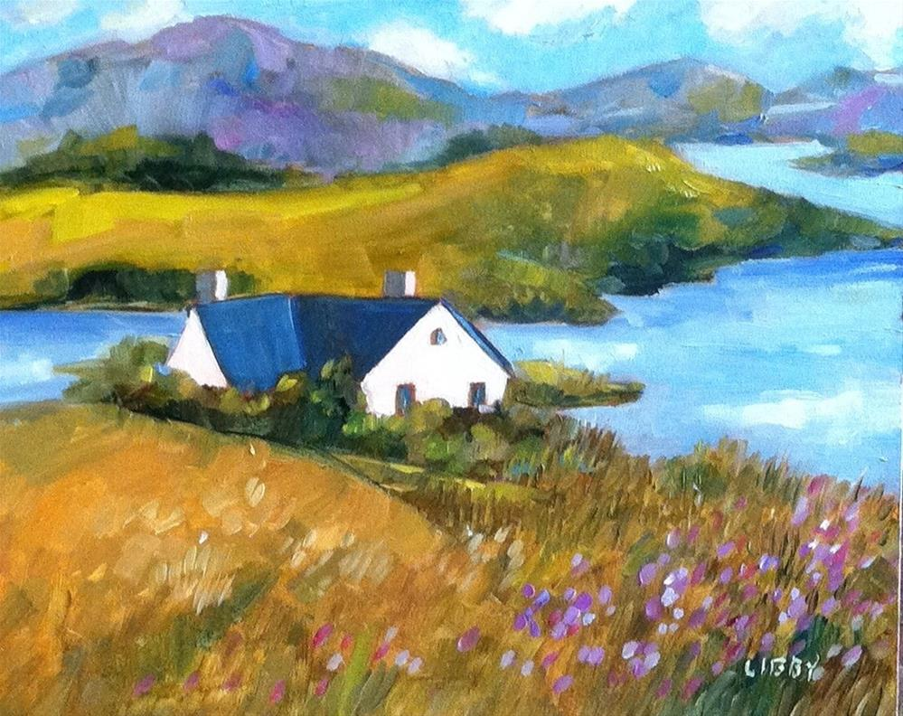 """""""Alone on the Island"""" original fine art by Libby Anderson"""