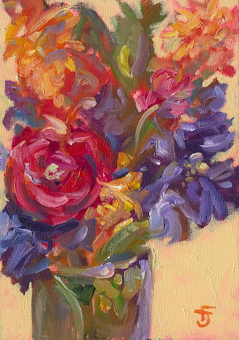 """Bouquet 2"" original fine art by Francine Dufour~Jones"