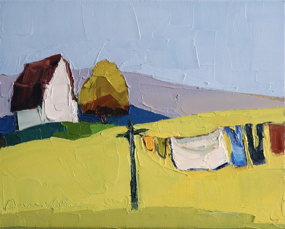 """""""The Clothesline IV"""" original fine art by Donna Walker"""
