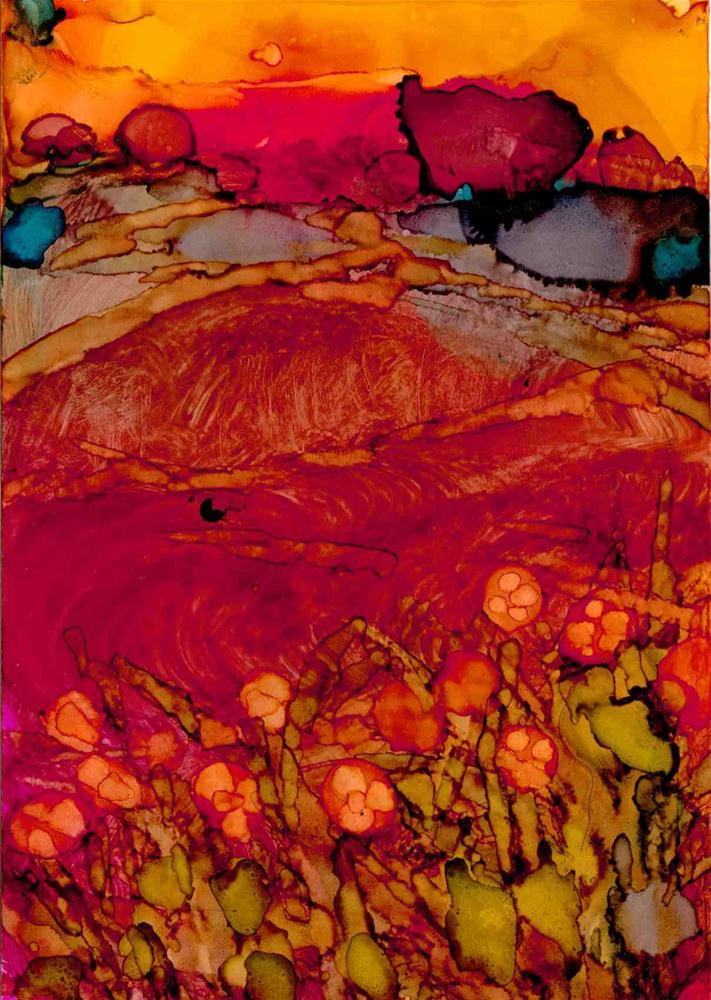 """""""Red Field"""" original fine art by Kelly Alge"""