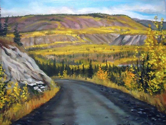 """Ross River, Yukon"" original fine art by Jackie Irvine"