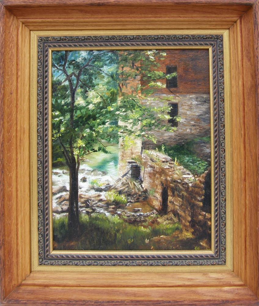 """""""Old Mill Stream I"""" original fine art by Lori Brackett"""