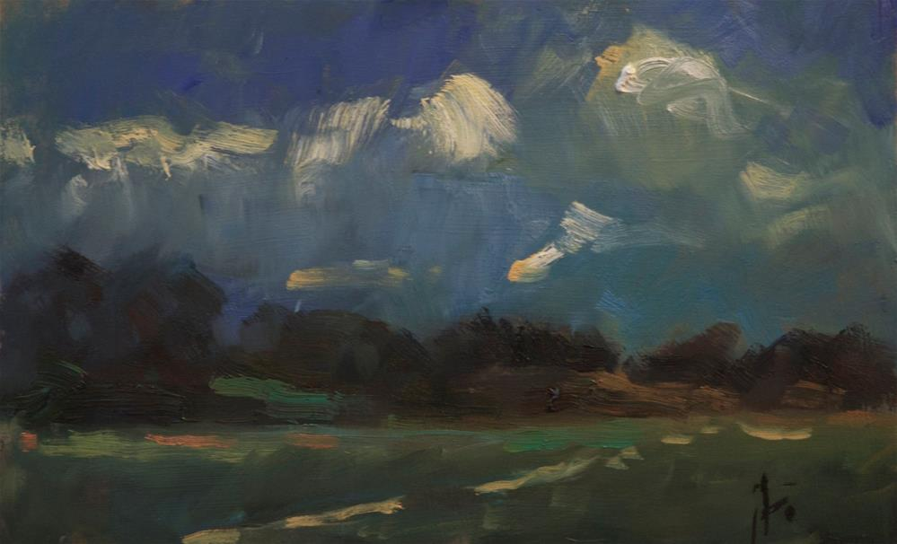 """""""Whispy Clouds"""" original fine art by Andre Pallat"""