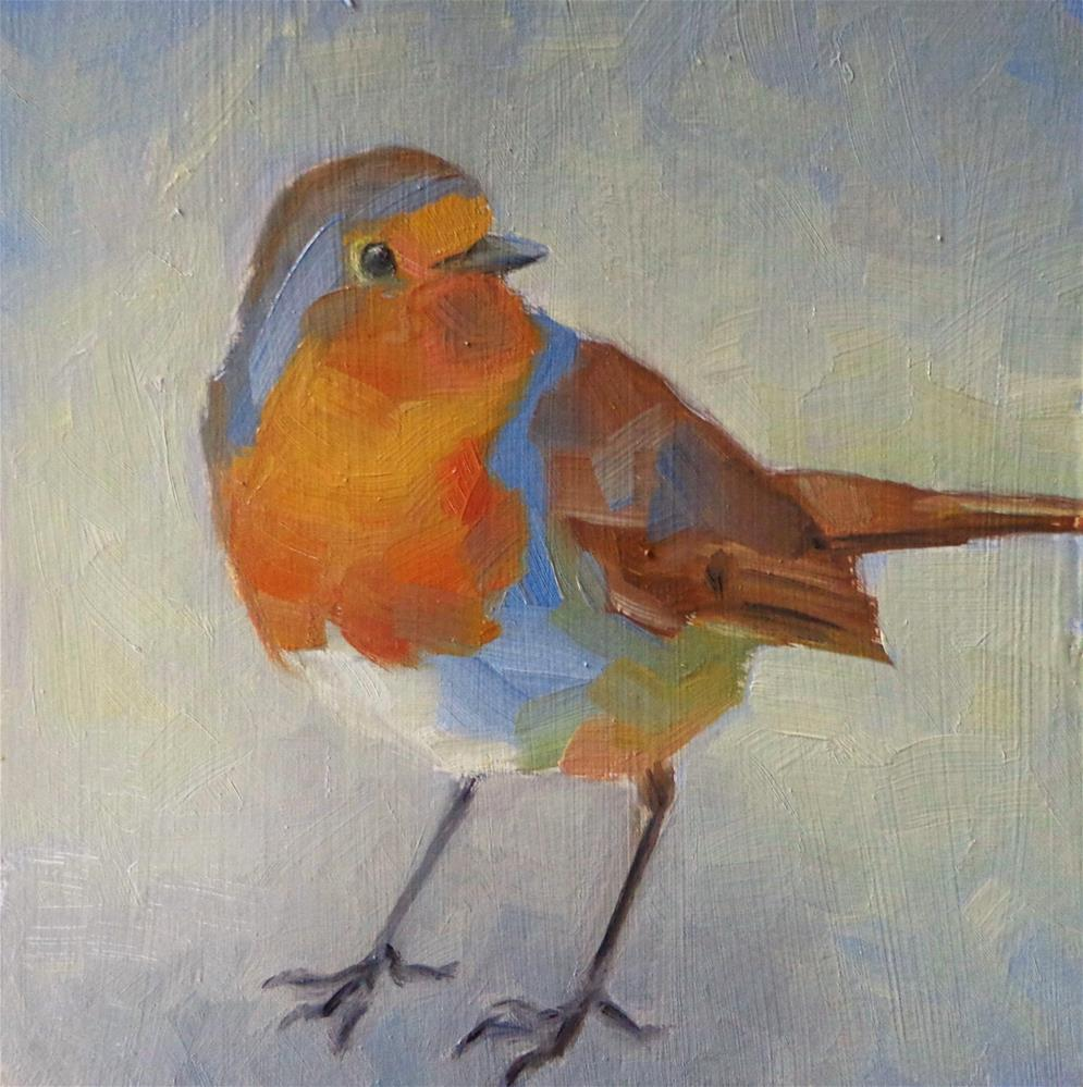 """Robin"" original fine art by Maria Z."