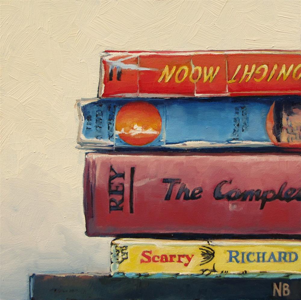 """Stacked"" original fine art by Nora Bergman"