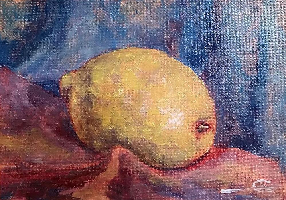 """A Lonely Lemon"" original fine art by Gabriella DeLamater"