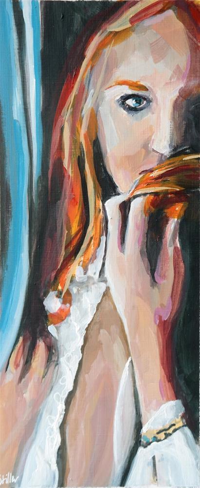 """""""2558 Orange Girl"""" original fine art by Dietmar Stiller"""