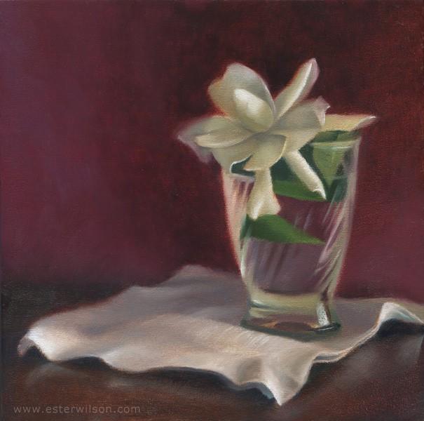 """Summer Gardenia"" original fine art by Ester Wilson"