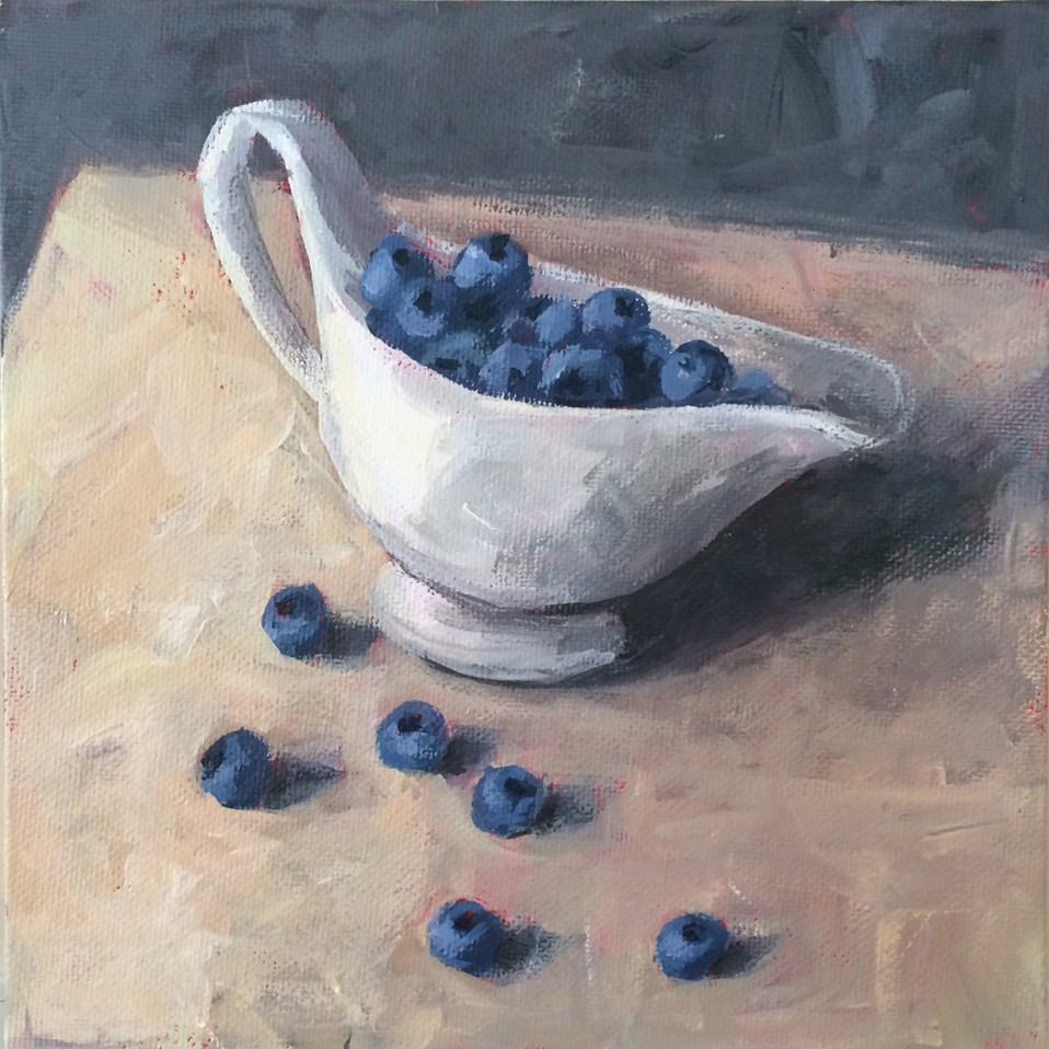 """Blueberry Boat"" original fine art by Shannon Bauer"
