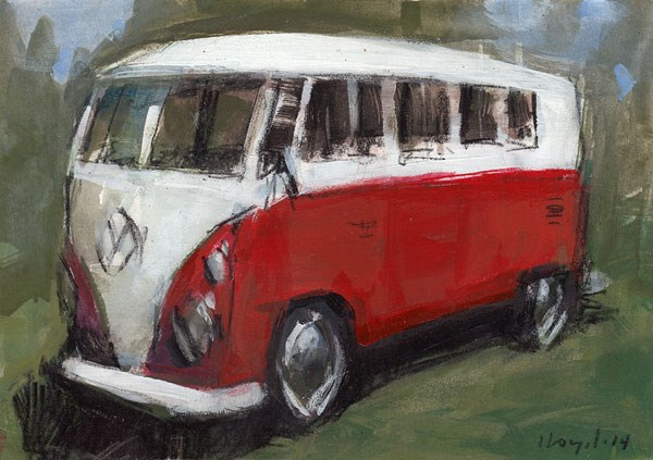 """Bus - Sketch"" original fine art by David Lloyd"