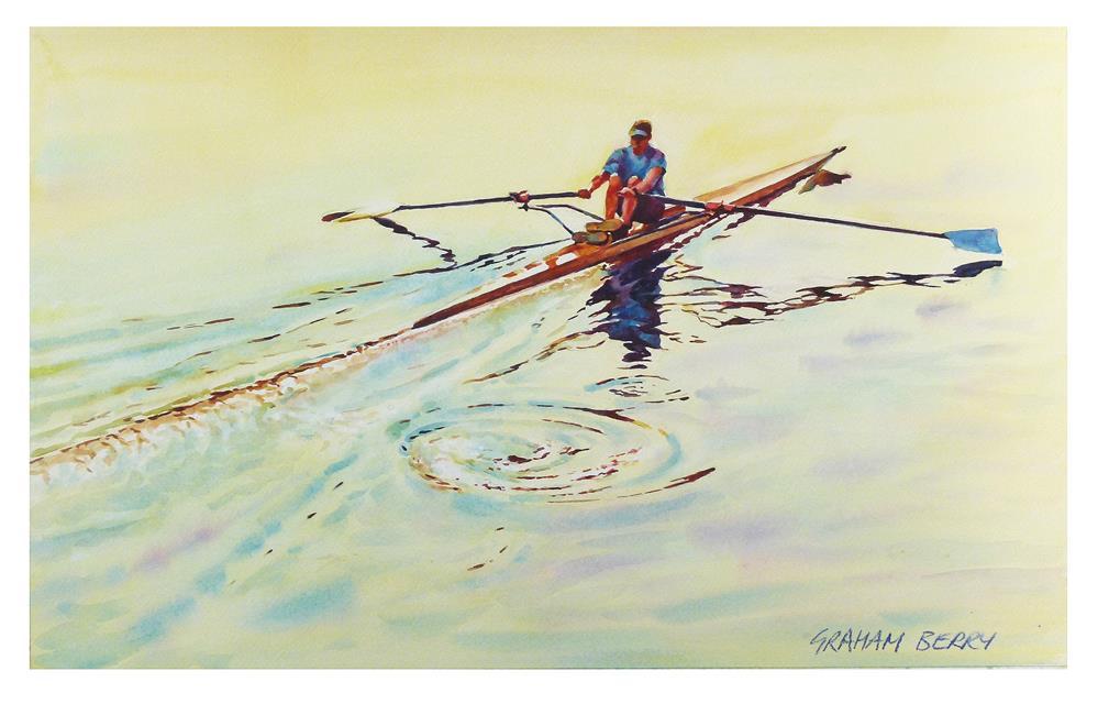 """Rower."" original fine art by Graham Berry"