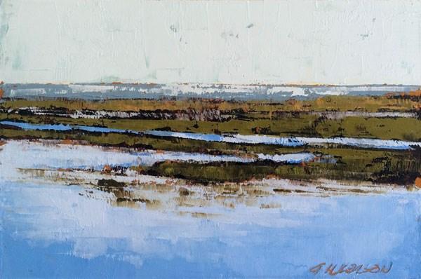 """Scott Creek, Fall High Tide"" original fine art by Mary Gilkerson"