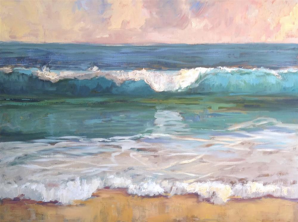 """Simple Wave"" original fine art by Deborah Newman"