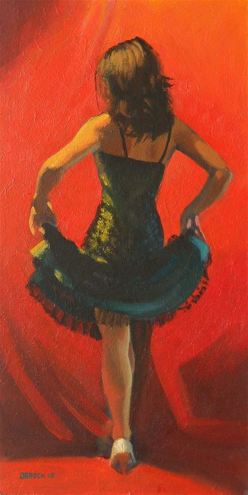 """Green dress back"" original fine art by Peter Orrock"