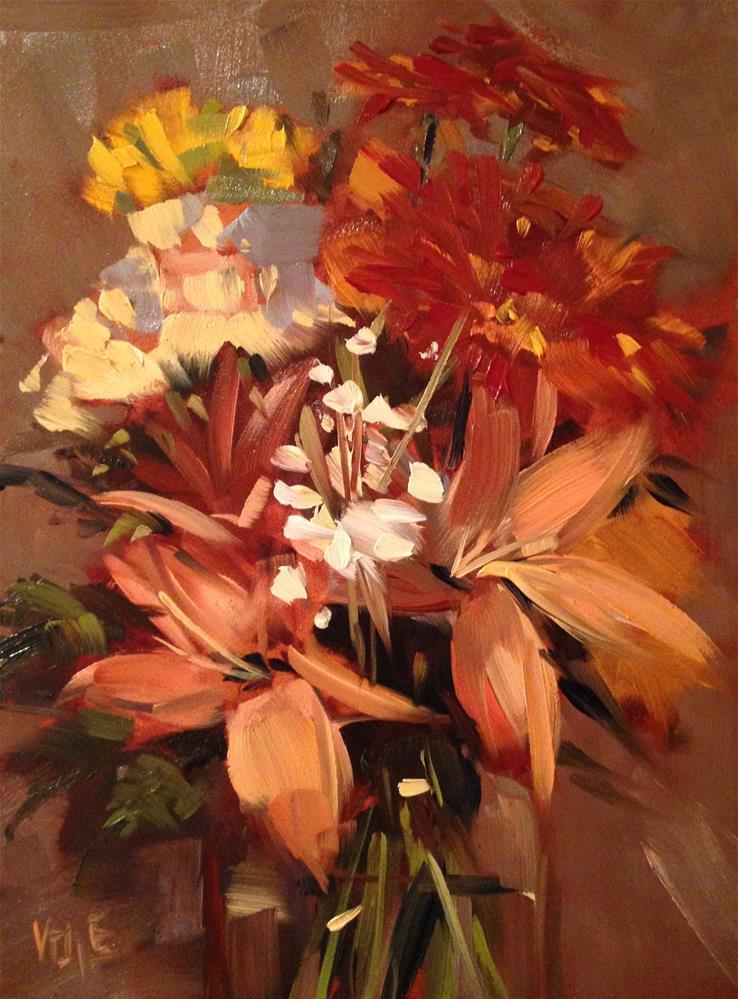 """""""#195 Autumn Bouquet"""" original fine art by Patty Voje"""
