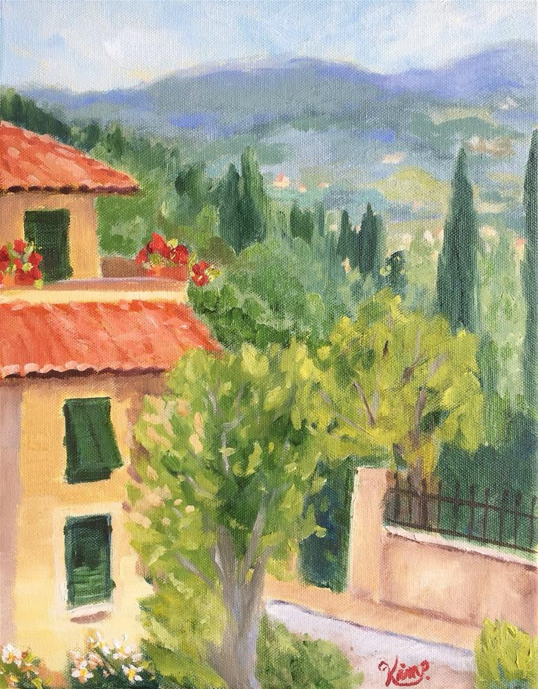 """""""Morning in Tuscany"""" original fine art by Kim Peterson"""