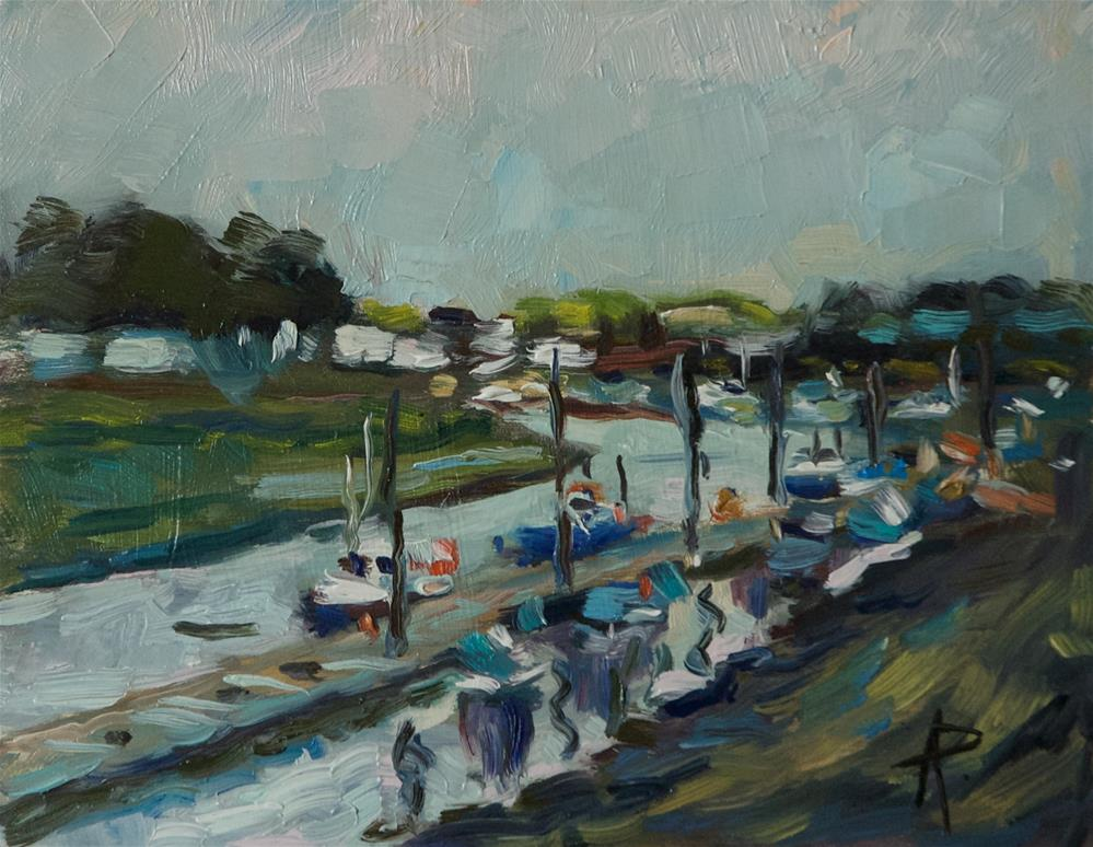 """Boats at the Marina"" original fine art by Andre Pallat"