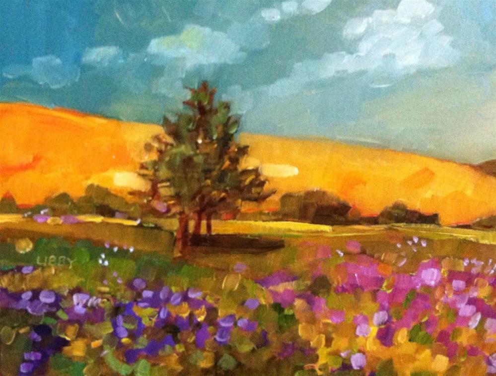 """Golden Hills"" original fine art by Libby Anderson"