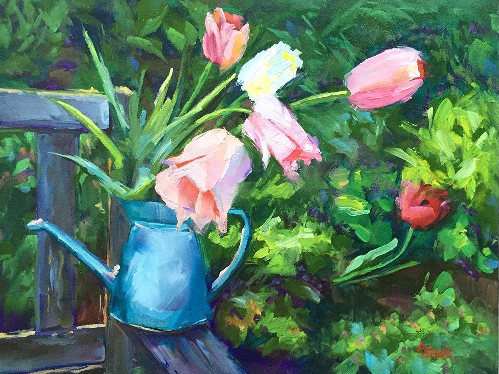 """""""Cutting Tulips"""" original fine art by Andrea Jeris"""