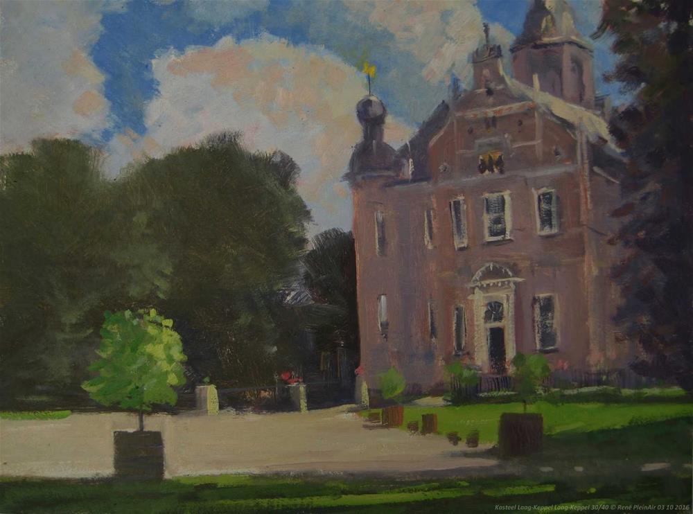 """Castle Laag-Keppel. The Netherlands."" original fine art by René PleinAir"
