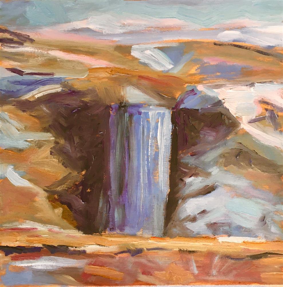 """Winter Waterfall"" original fine art by Shari Goddard Shambaugh"