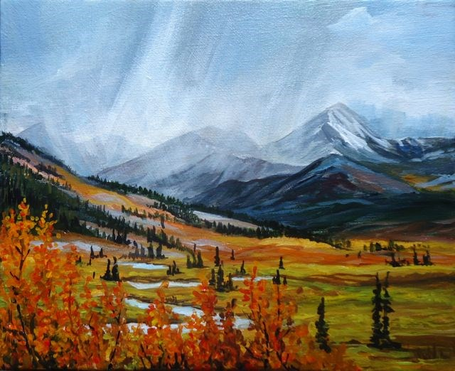 """MacMillan Pass, North Canol, Yukon"" original fine art by Jackie Irvine"